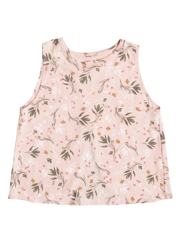 e0c0d0b53ab 0 Girl's 7-14 Emotional Flower Sleeveless Crop Top ERGZT03220 Roxy