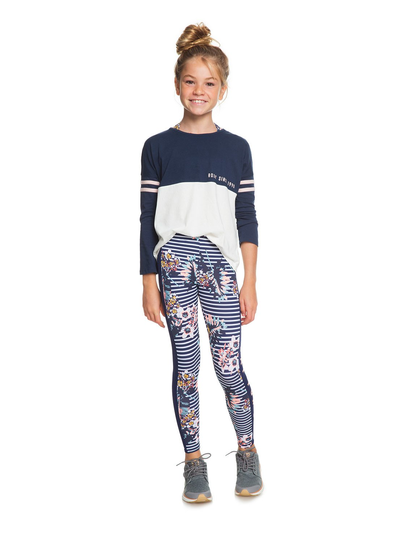 0523b6a0324f7 2 Sun One - Camiseta de manga larga para Chicas 8-16 Azul ERGZT03337 Roxy