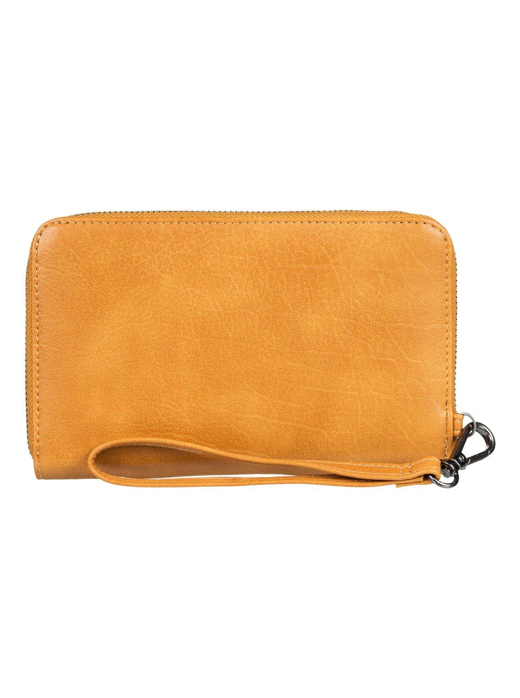 Roxy Juno Faux Leather Wallet in Camel