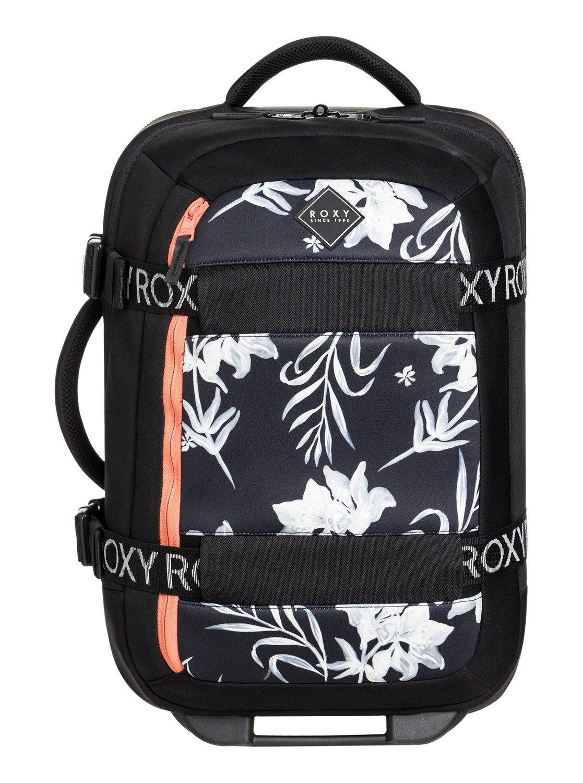 0d1893ec277170 0 Wheelie Neoprene - Wheeled Cabin Bag Black ERJBL03163 Roxy