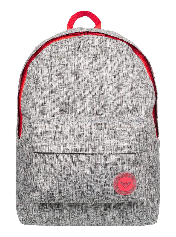 85e0e8fd419 0 Sugar Baby Solid - Medium Backpack Grey ERJBP03262 Roxy