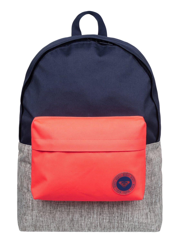 bb4a00425fb 0 Sugar Baby Colorblock - Medium Backpack Blue ERJBP03263 Roxy