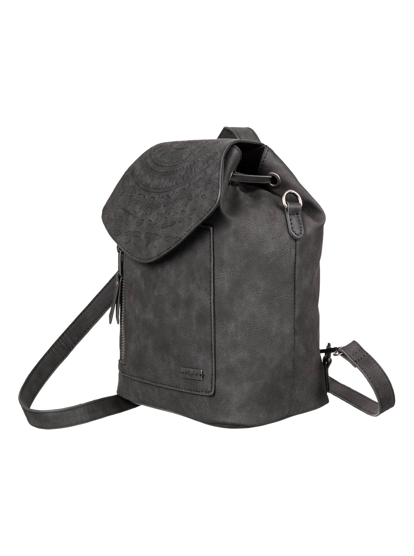5f8ea28545 1 Like A River 6L - Petit sac à dos imitation cuir Noir ERJBP03875 Roxy