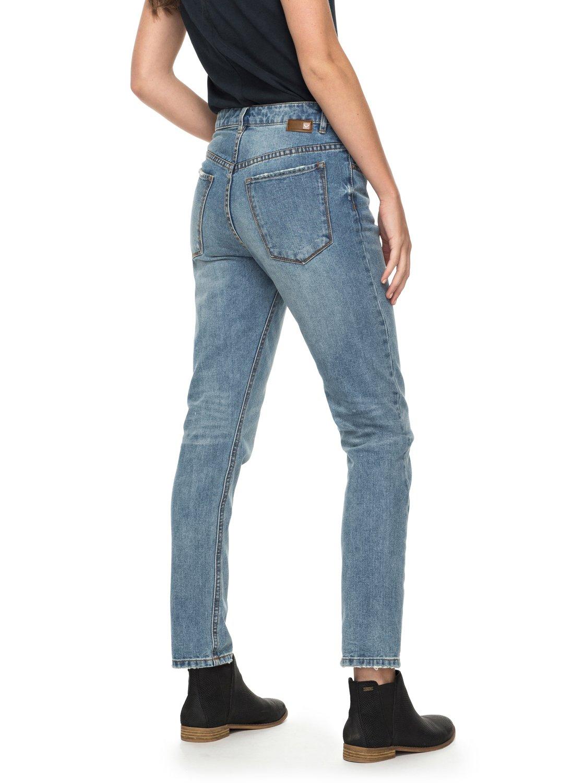 4b47d2c8c91d8 3 I Feel Free High Waisted Straight Fit Jeans ERJDP03166 Roxy