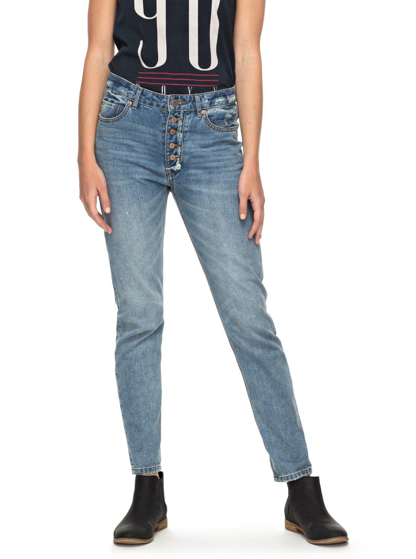 06ab42f8fd4ea 1 I Feel Free High Waisted Straight Fit Jeans ERJDP03166 Roxy