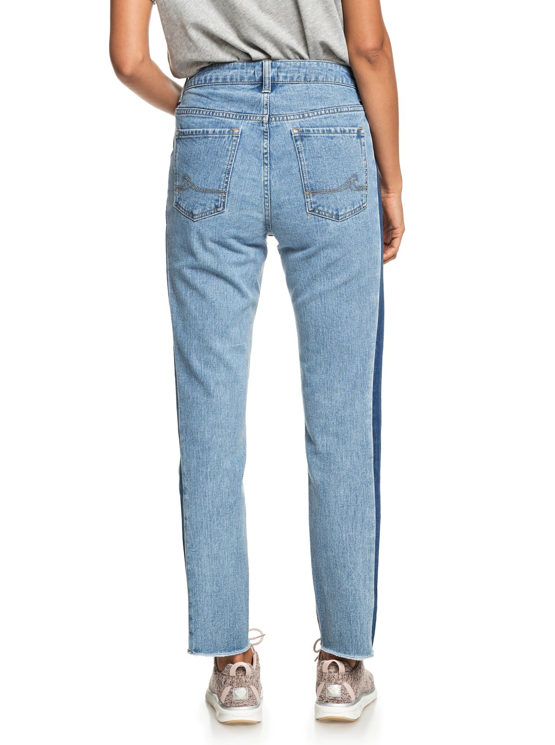 3 Cloudy Days Boyfriend Fit Jeans Blue ERJDP03196 Roxy