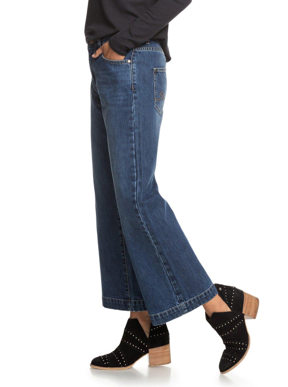 dddda9d138a13 2 Lullaby Soul - Vaquero de pata ancha para Mujer Azul ERJDP03198 Roxy
