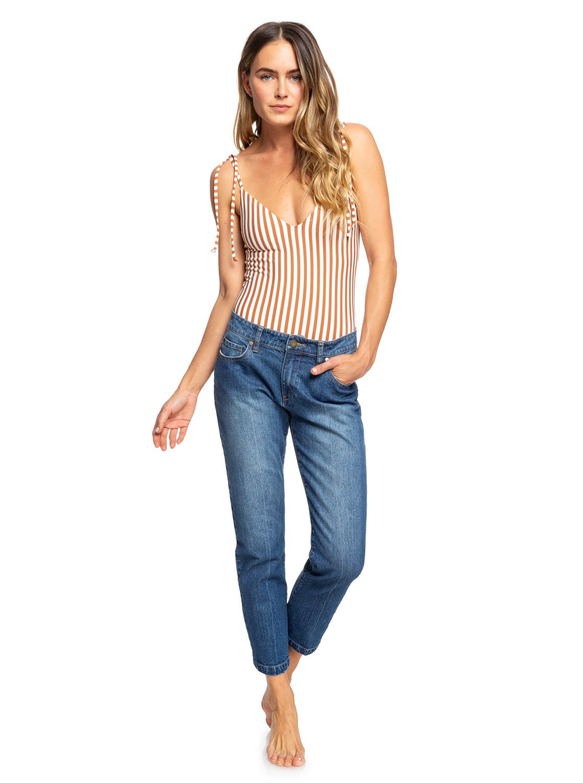 8911fde089a68 0 Sunday Denim Straight Fit Jeans ERJDP03217 Roxy
