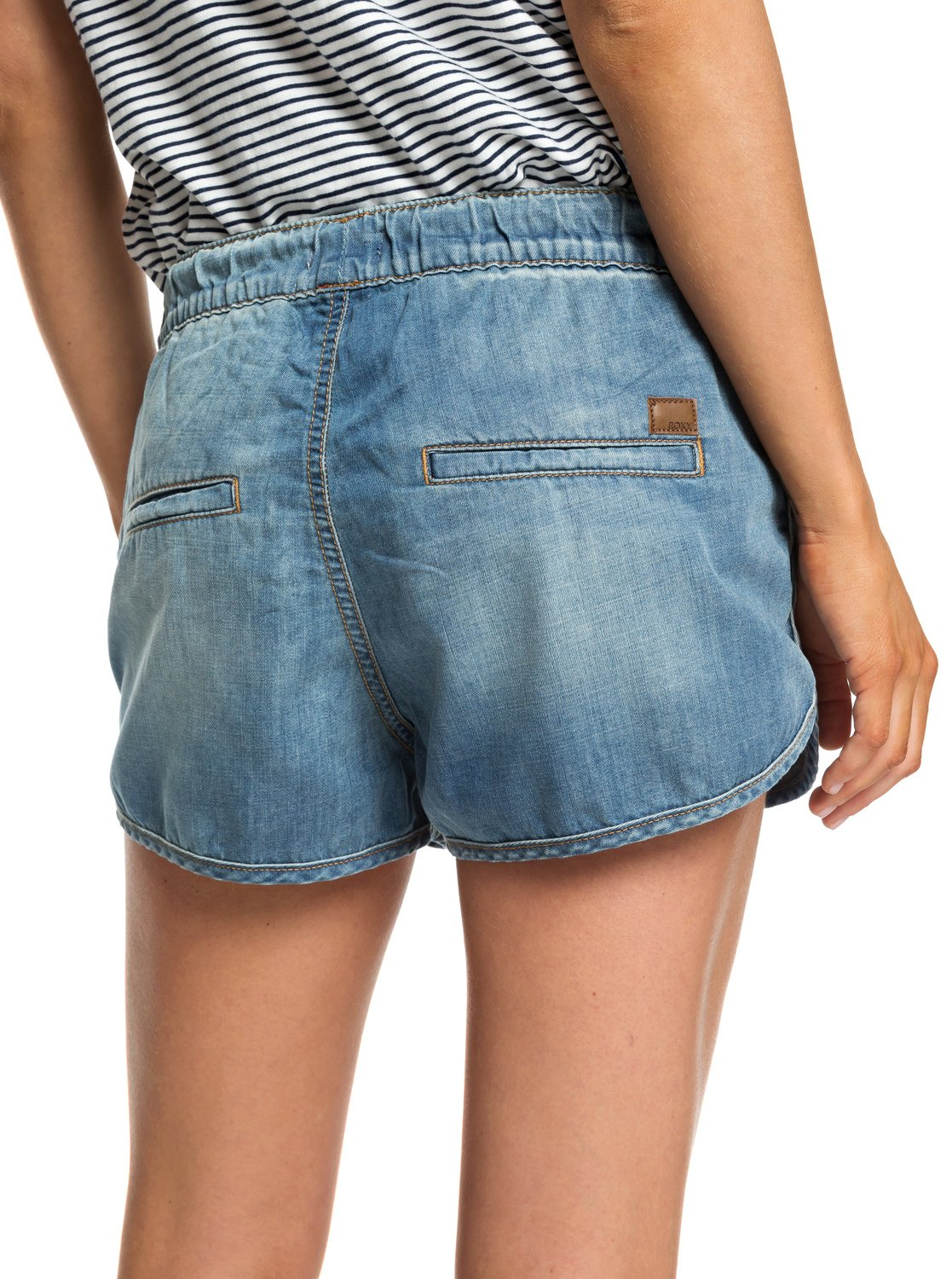 aab3fb5c4 4 Music Never Stop - Denim Beach Shorts for Women ERJDS03152 Roxy