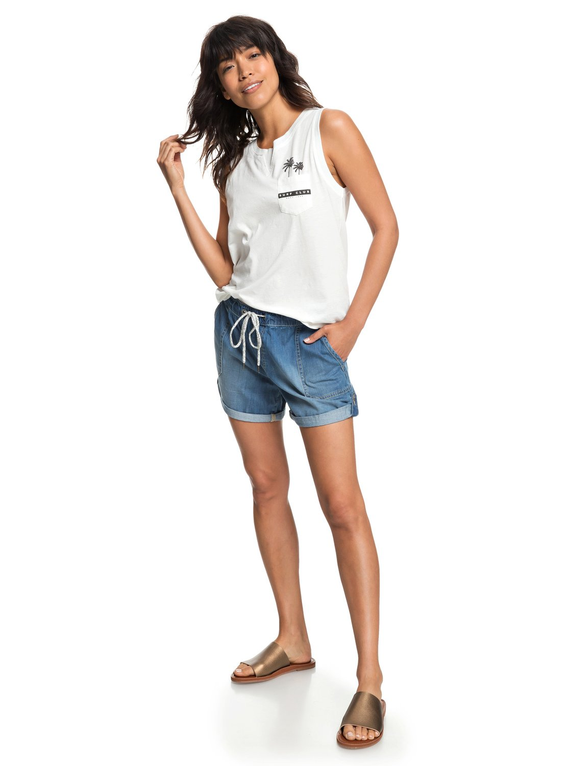 3d091c312 2 Arecibo - Denim Shorts for Women ERJDS03191 Roxy
