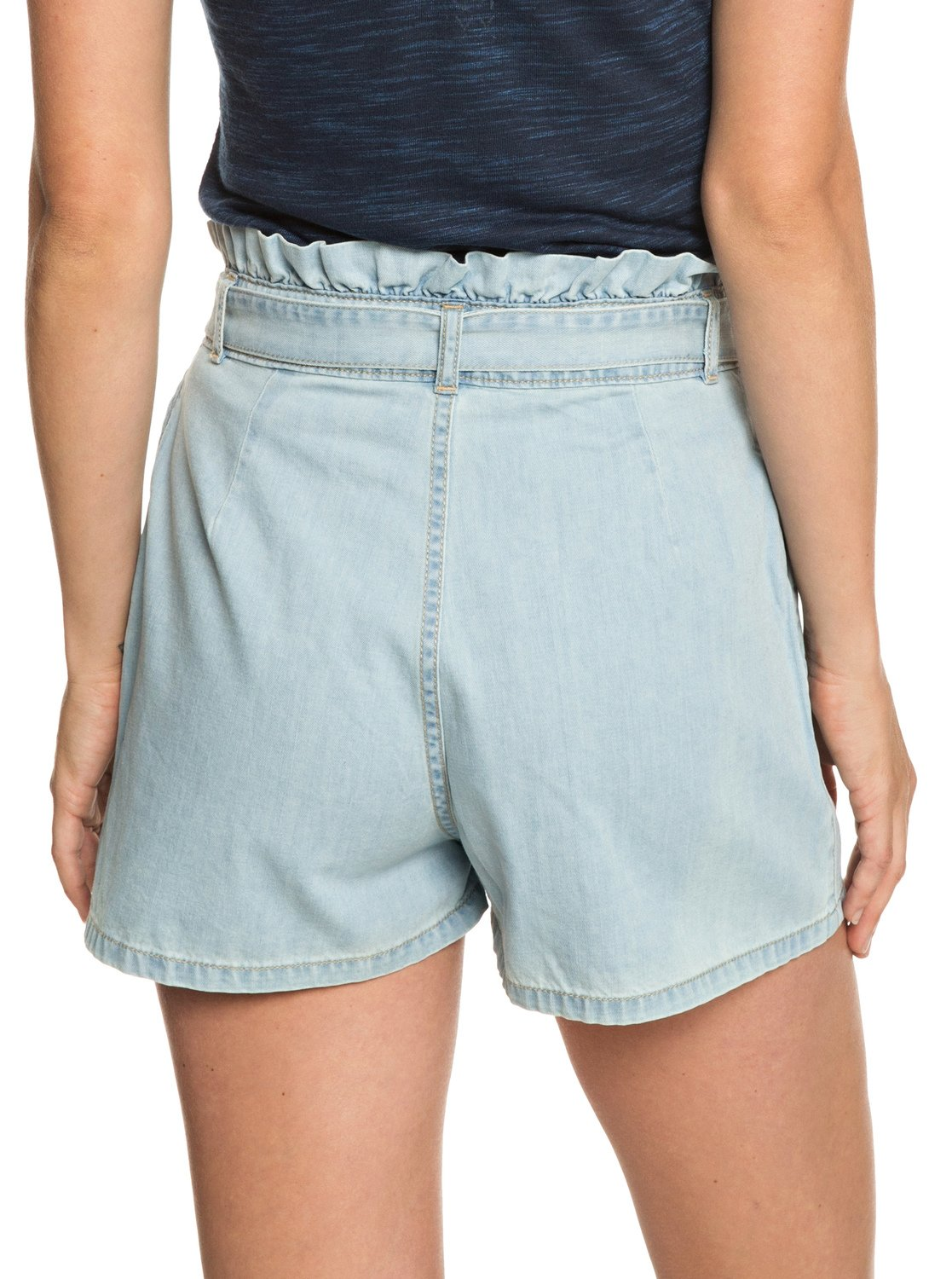 1a1495419 3 Realestate - High Waist Denim Shorts for Women Blue ERJDS03195 Roxy