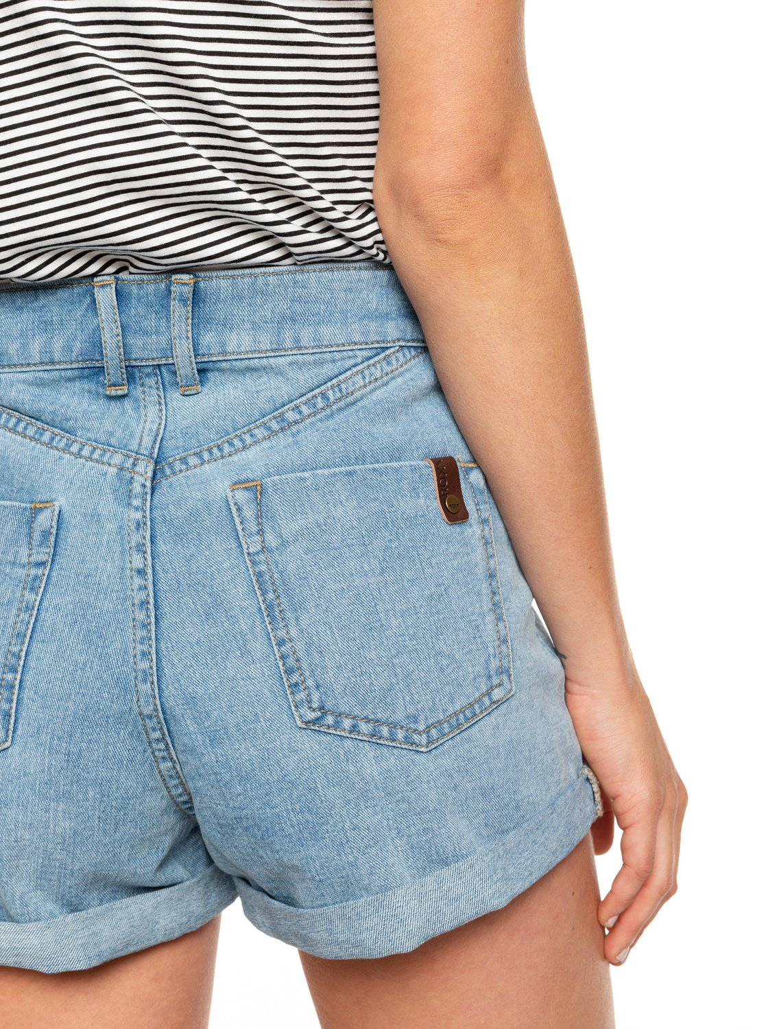 6146905856ae5a 2 Authentic High Waist Denim Shorts Blue ERJDS03196 Roxy