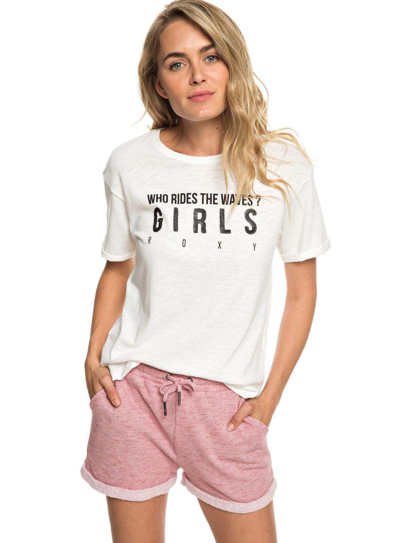 Roxy Trippin Pantalones Cortos de Felpa Mujer