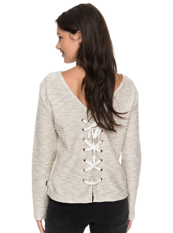 395bcca200b469 2 Saturdaze - Loose Fit Tie Back Sweatshirt for Women ERJFT03603 Roxy