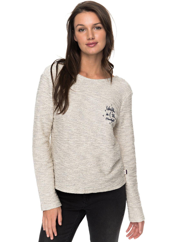 052cae6360d1b8 0 Saturdaze Loose Fit Tie Back Sweatshirt ERJFT03603 Roxy