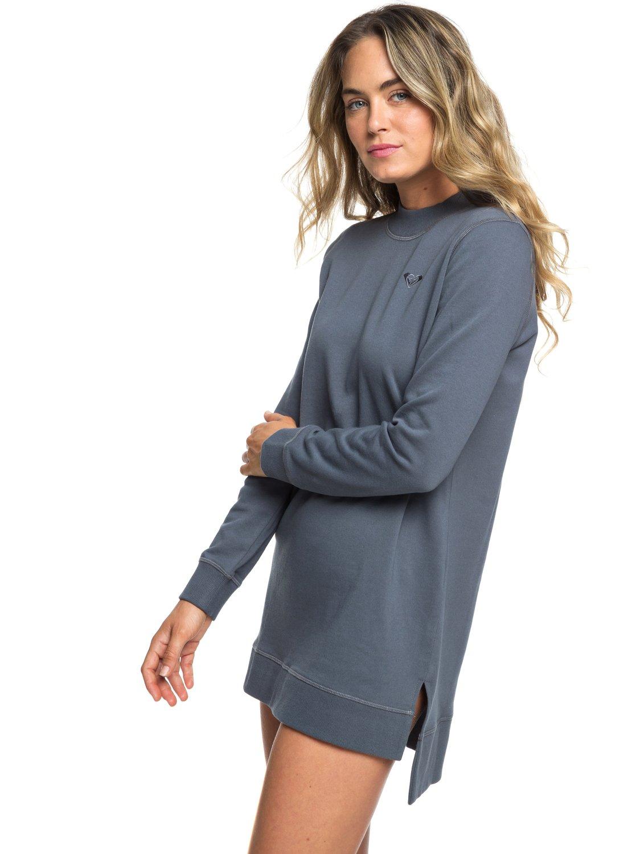 e901f8808667 1 Suns Spinning Long Sleeve Sweatshirt Dress Black ERJFT03870 Roxy