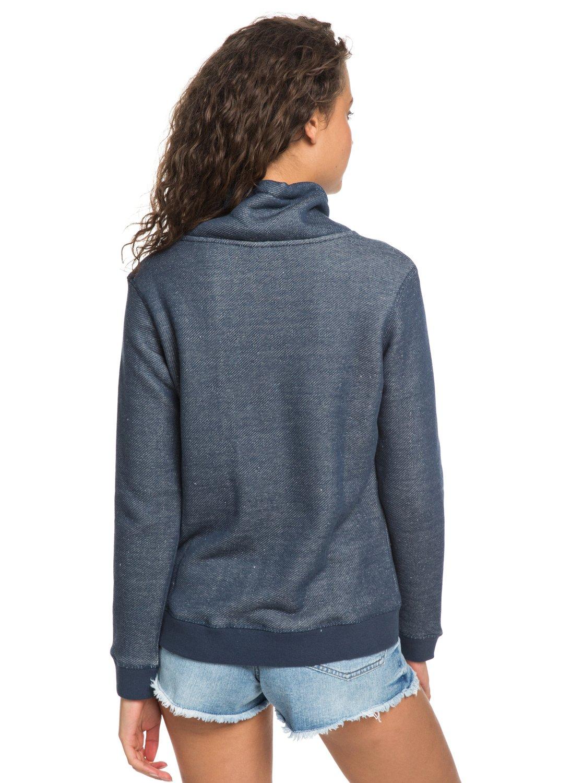 3f78b36541 3 Seasons Change Funnel Neck Sweatshirt Blue ERJFT03874 Roxy