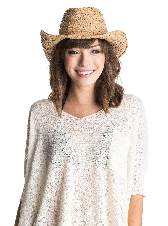 731a615d337f9 1 Cowgirl Straw Hat Beige ERJHA03111 Roxy