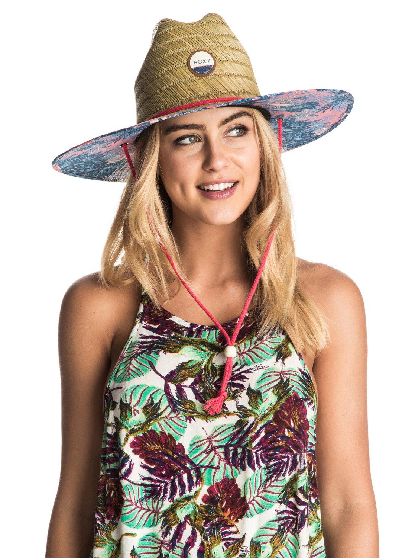 72b5c417a8830c 2 Tomboy Printed Straw Hat ERJHA03163 Roxy