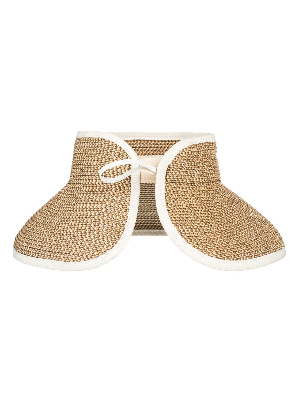 5c4f194f 2 Kiss The Ocean - Capeline Straw Hat for Women White ERJHA03495 Roxy