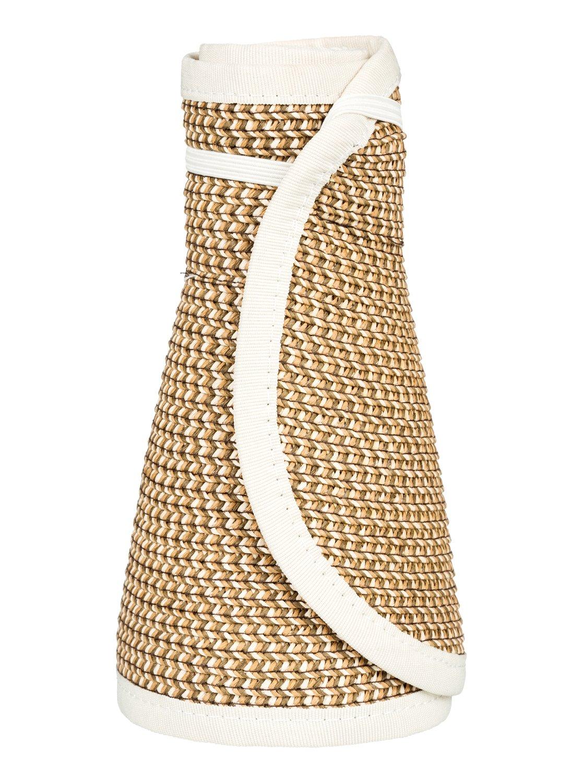 2124abe0 3 Kiss The Ocean - Capeline Straw Hat for Women White ERJHA03495 Roxy
