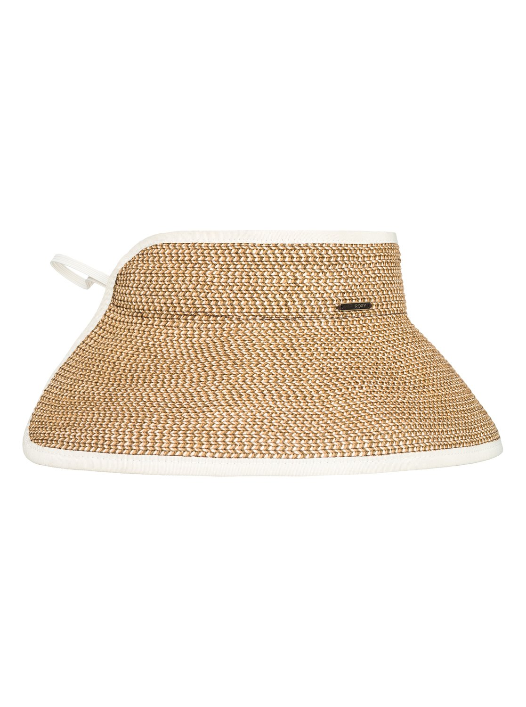 0bc39f61 1 Kiss The Ocean - Capeline Straw Hat for Women White ERJHA03495 Roxy