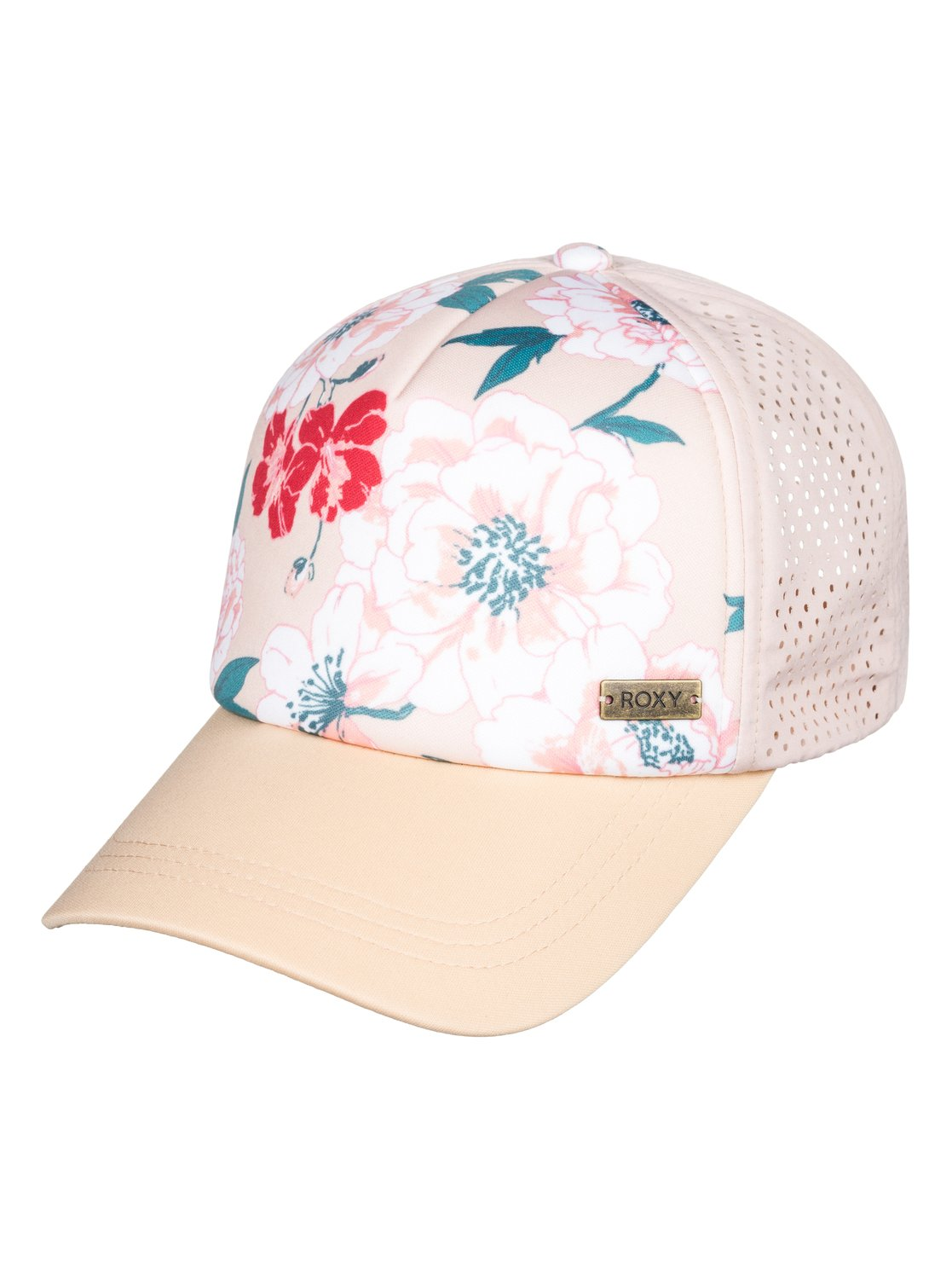 f4cc1bd0b47cd 0 Waves Machines Trucker Hat Beige ERJHA03577 Roxy