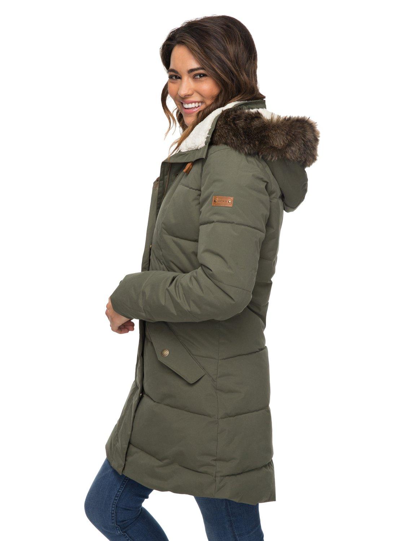 a2b8852cfed 0 Ellie 5K - Chaqueta larga impermeable con capucha para Mujer ERJJK03186  Roxy