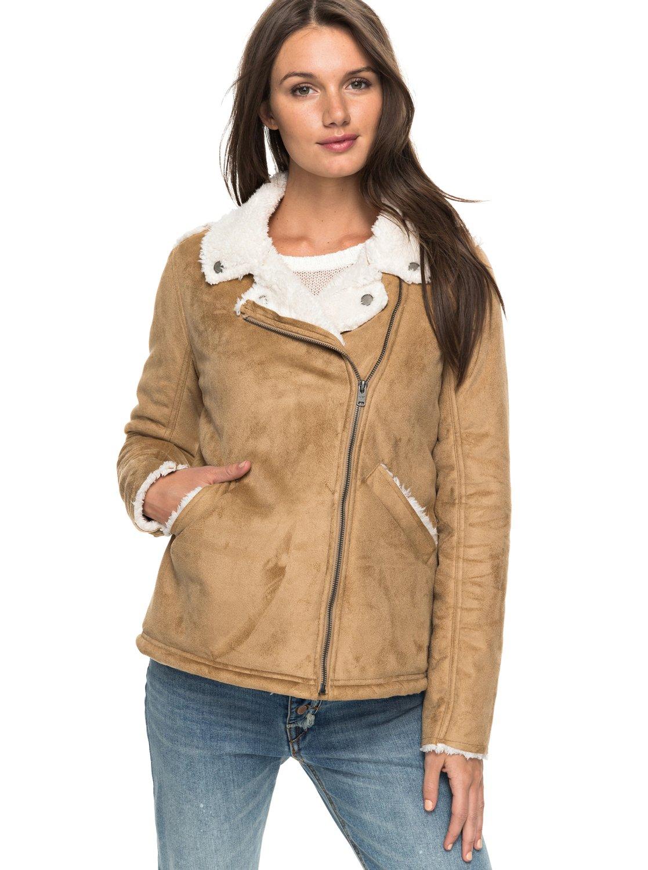 87686874b6a9f3 0 Love Found Faux-Shearling Jacket ERJJK03201 Roxy