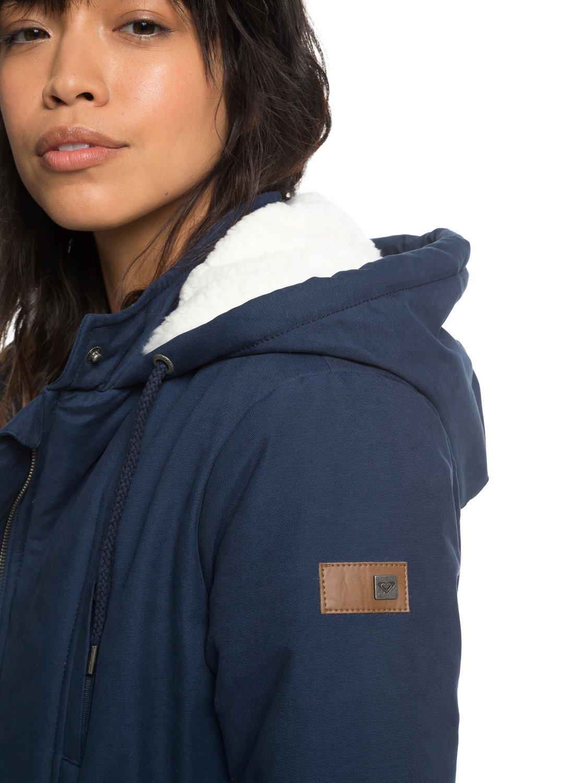 Roxy-Slalom-Chic-Veste-a-capuche-matelassee-impermeable-pour-Femme-ERJJK03231 miniature 11