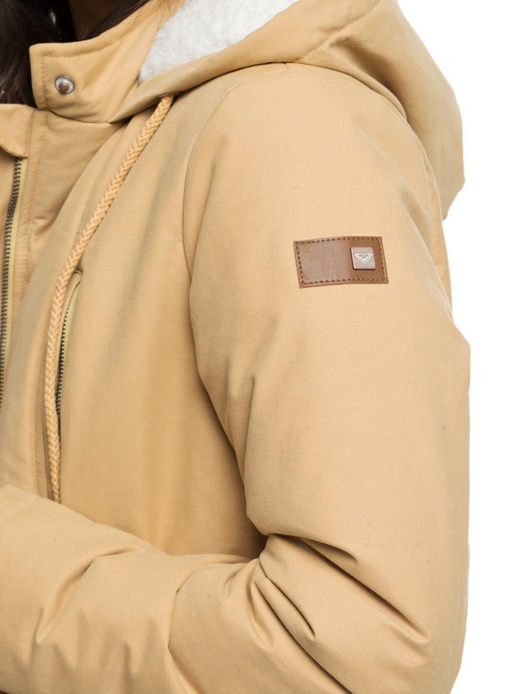 Roxy-Slalom-Chic-Veste-a-capuche-matelassee-impermeable-pour-Femme-ERJJK03231 miniature 7