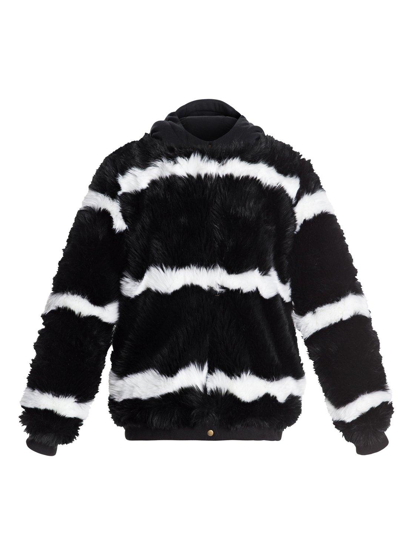 c4f002035 0 Carrie - Technical Faux-Fur Jacket for Women Black ERJJK03236 Roxy