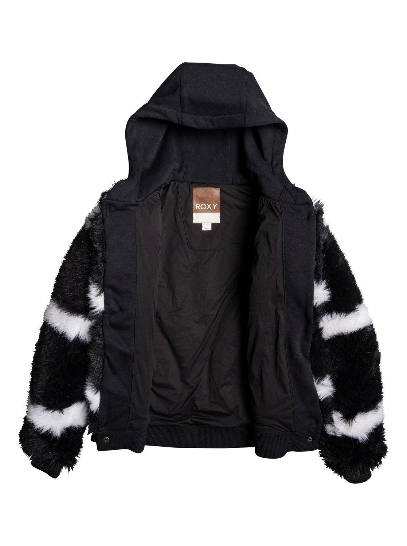 8a8446ac0 5 Carrie Technical Faux Fur Jacket Black ERJJK03236 Roxy
