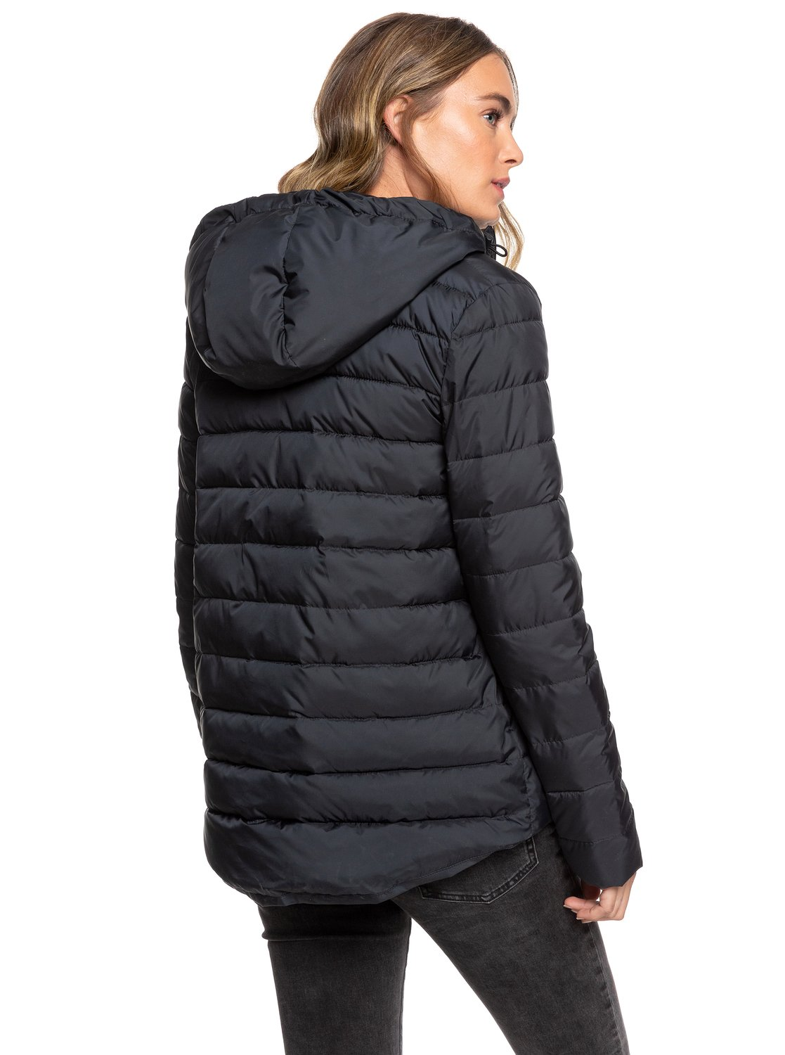 ea3df4a9b675 Roxy™ Rock Peak - Water-Repellent Hooded Padded Jacket - Women - L - Black