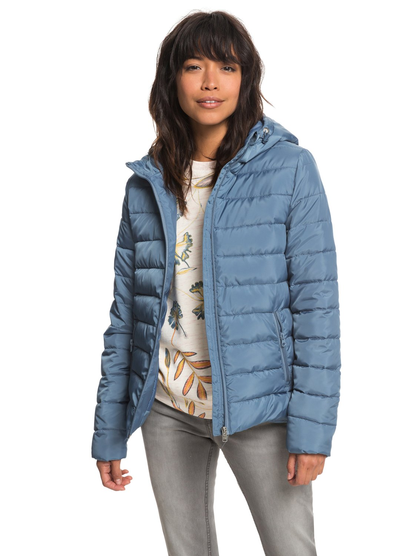 0756aa1ff1b 0 Rock Peak - Chaqueta acolchada impermeable para Mujer Azul ERJJK03250 Roxy