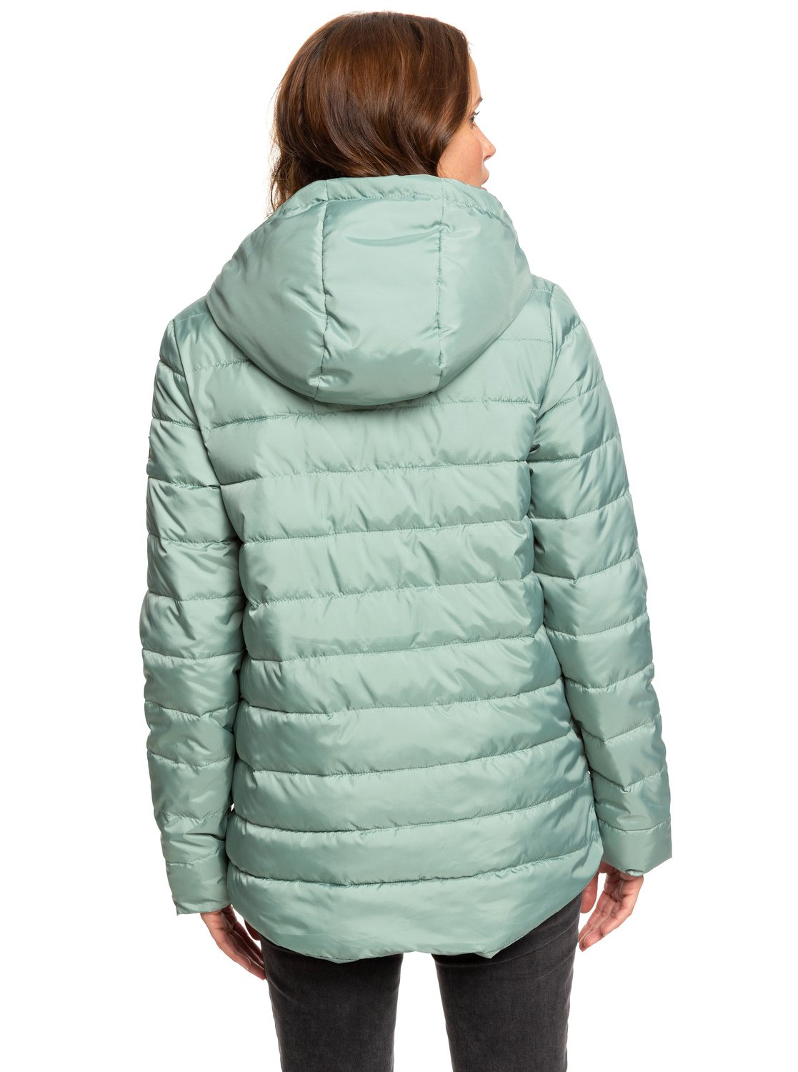 ccf0cc342cac 6 Rock Peak - Water Repellent Padded Jacket Green ERJJK03250 Roxy