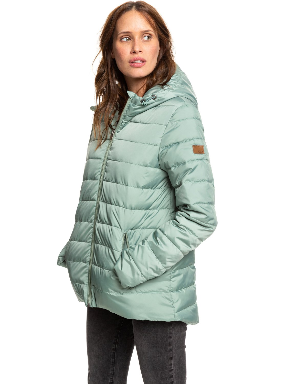 bd481be6cfec8f 1 Rock Peak - Wasserabweisende, wattierte Jacke für Frauen Grün ERJJK03250  Roxy