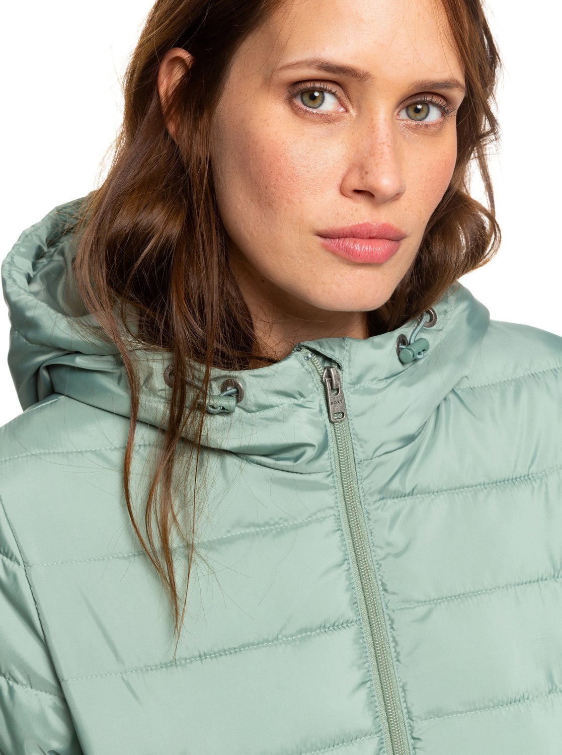 beb655e33ec0 2 Rock Peak - Water Repellent Padded Jacket Green ERJJK03250 Roxy