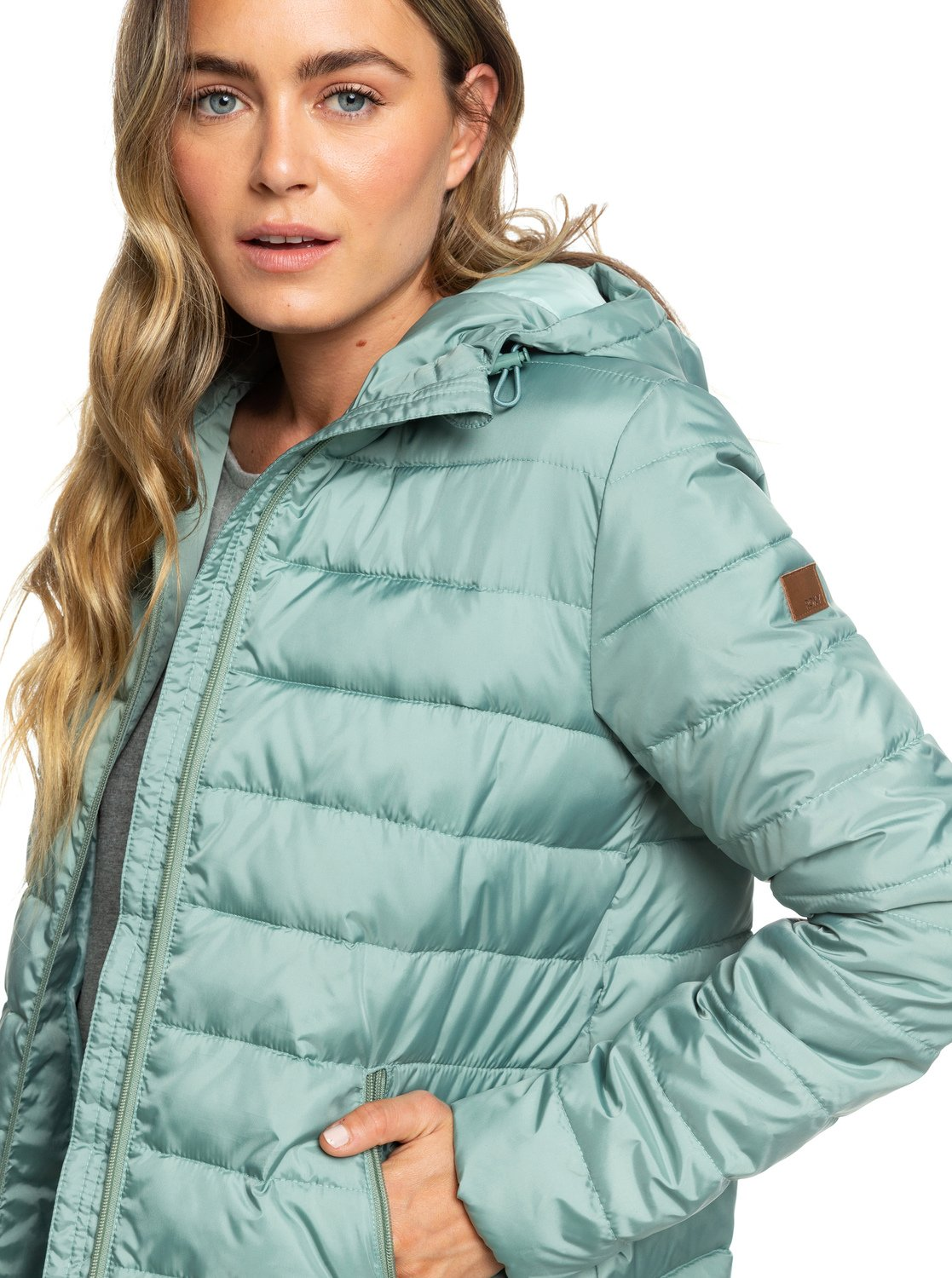 2522b470b053 4 Rock Peak - Water Repellent Padded Jacket Green ERJJK03250 Roxy