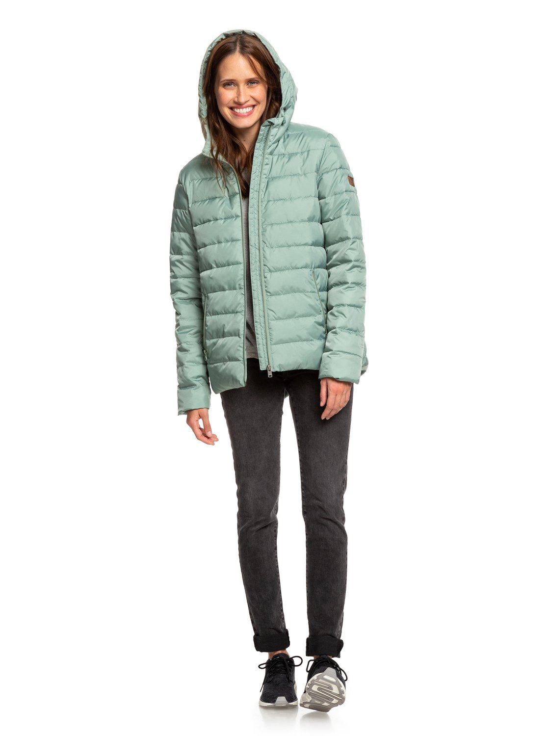 f4bade3d0feb 5 Rock Peak - Water Repellent Padded Jacket Green ERJJK03250 Roxy