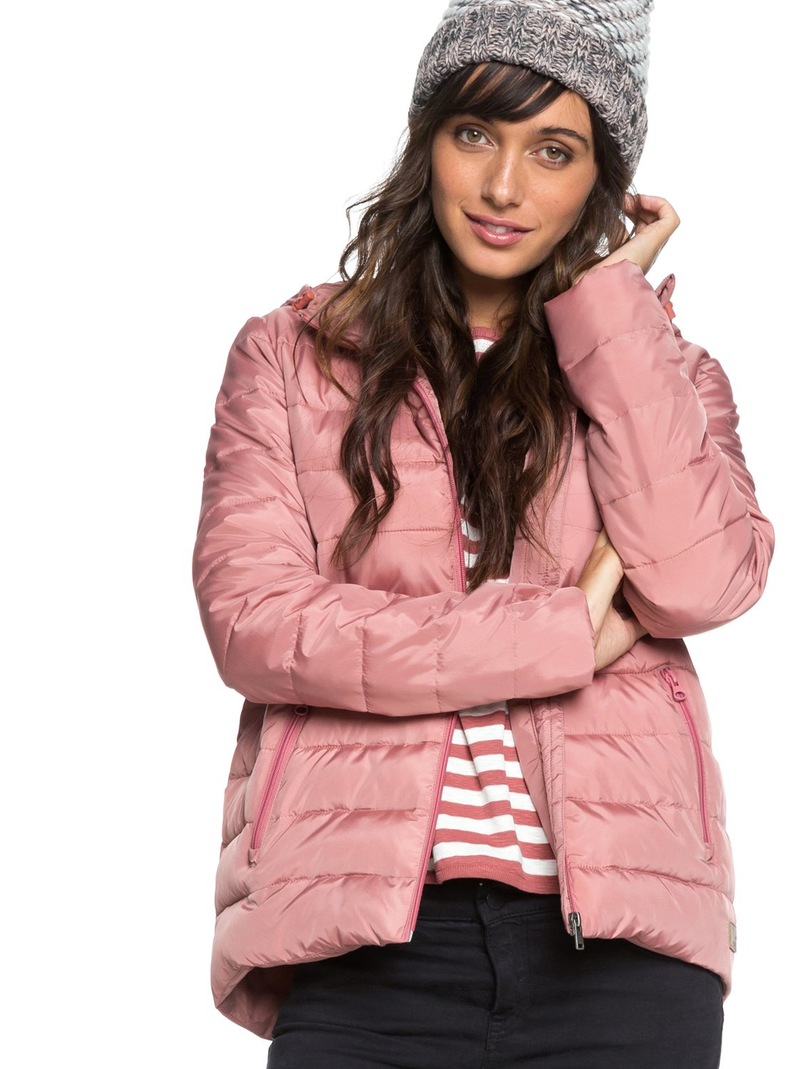 3e2abbce8ede 0 Rock Peak - Water Repellent Padded Jacket Pink ERJJK03250 Roxy