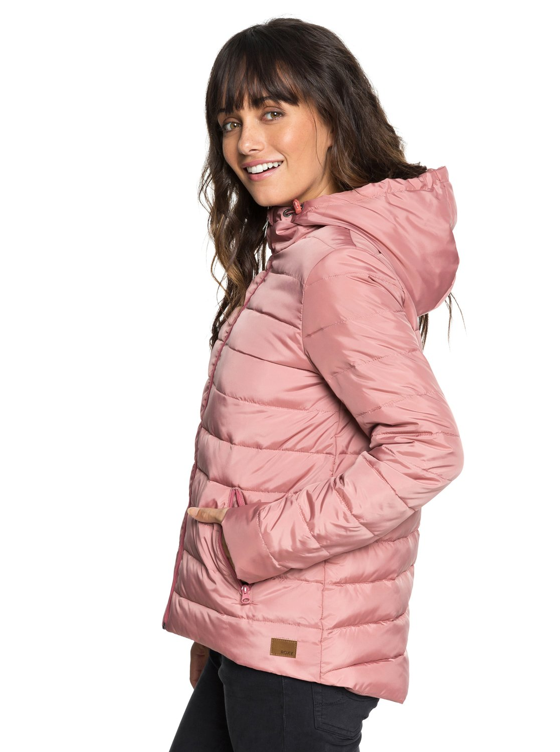 1a9469afcc30 2 Rock Peak - Water Repellent Padded Jacket Pink ERJJK03250 Roxy