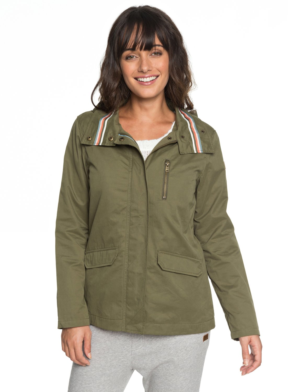 4cce8a93ee2 1 Lightening Strike - Chaqueta militar con capucha para Mujer ERJJK03260  Roxy