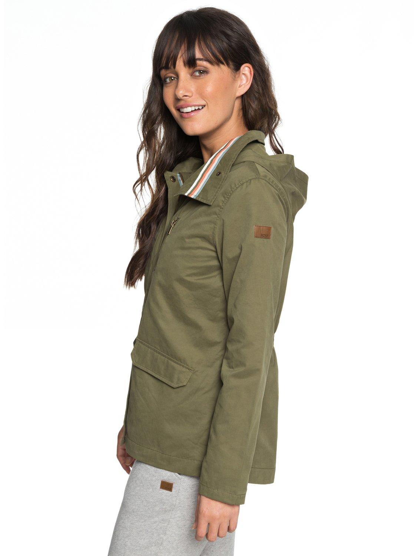3a600c73c25 2 Lightening Strike - Chaqueta militar con capucha para Mujer ERJJK03260  Roxy