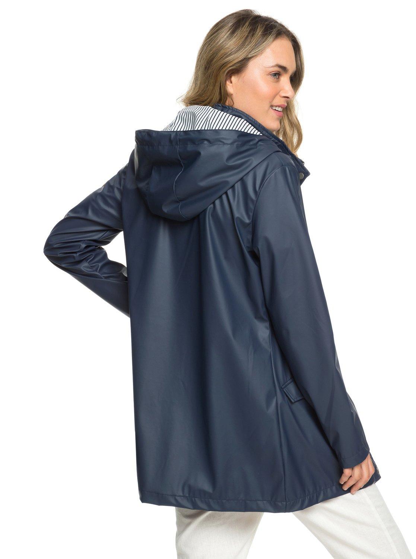 99da1d4baa833c 5 Early Morning - Wasserabweisender Regenmantel für Frauen Blau ERJJK03277  Roxy