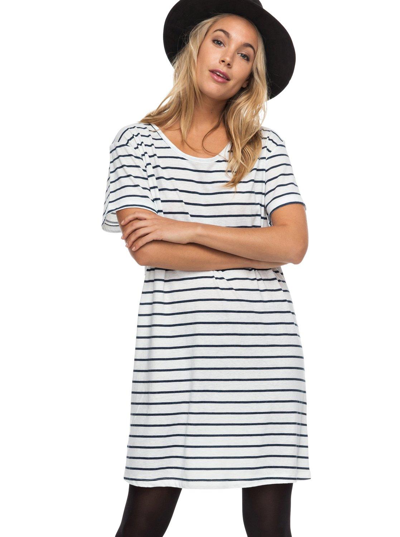 4db5ec3f1a1f8f 0 Just Simple Stripe - T-shirt-Jurk met korte mouwen ERJKD03131 Roxy