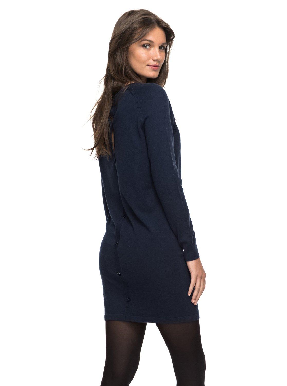 d137698ffd93 Winter Story - Langarm-Kleid mit Knopfleiste für Frauen ERJKD03139 ...