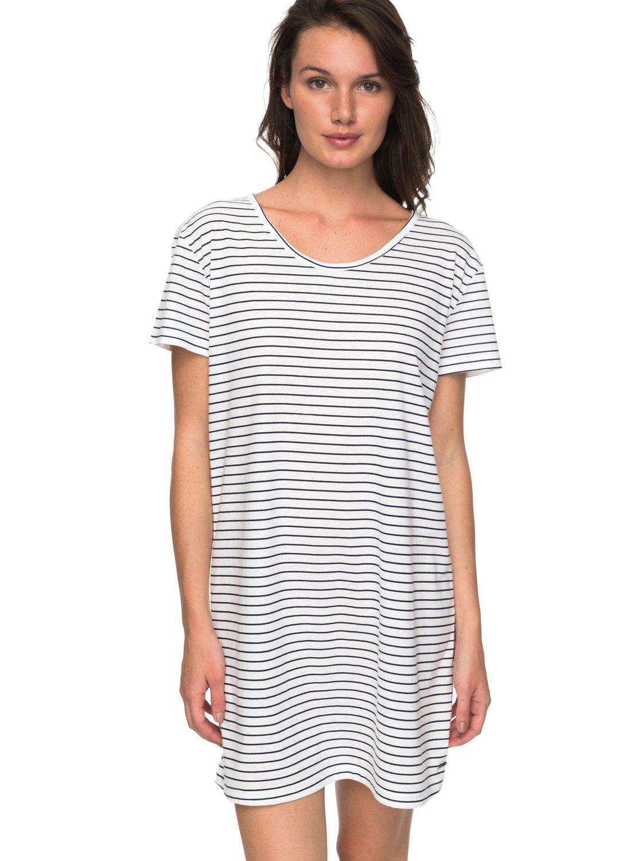 3ee1d72d5fc6e0 0 Just Simple Stripe - T-Shirt Dress for Women ERJKD03172 Roxy