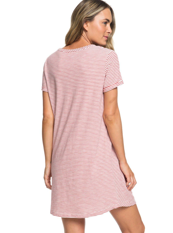 7f0435f324e 4 Love Sun - Robe t-shirt manches courtes pour Femme Rouge ERJKD03232 Roxy