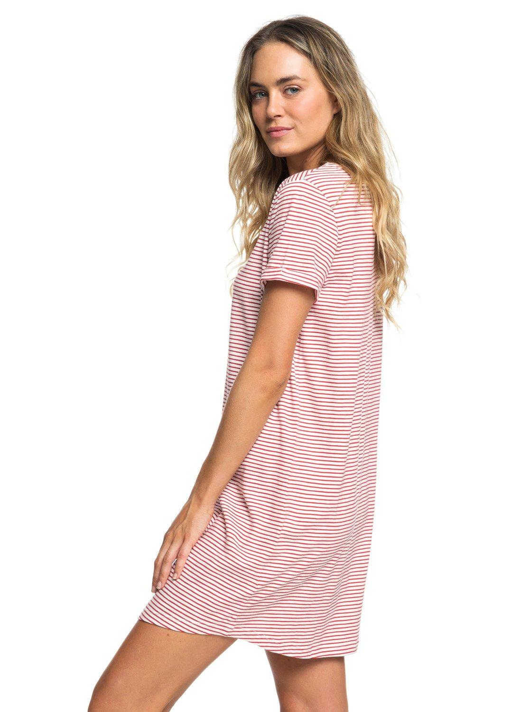 9d72c3bf18d 1 Love Sun - Robe t-shirt manches courtes pour Femme Rouge ERJKD03232 Roxy